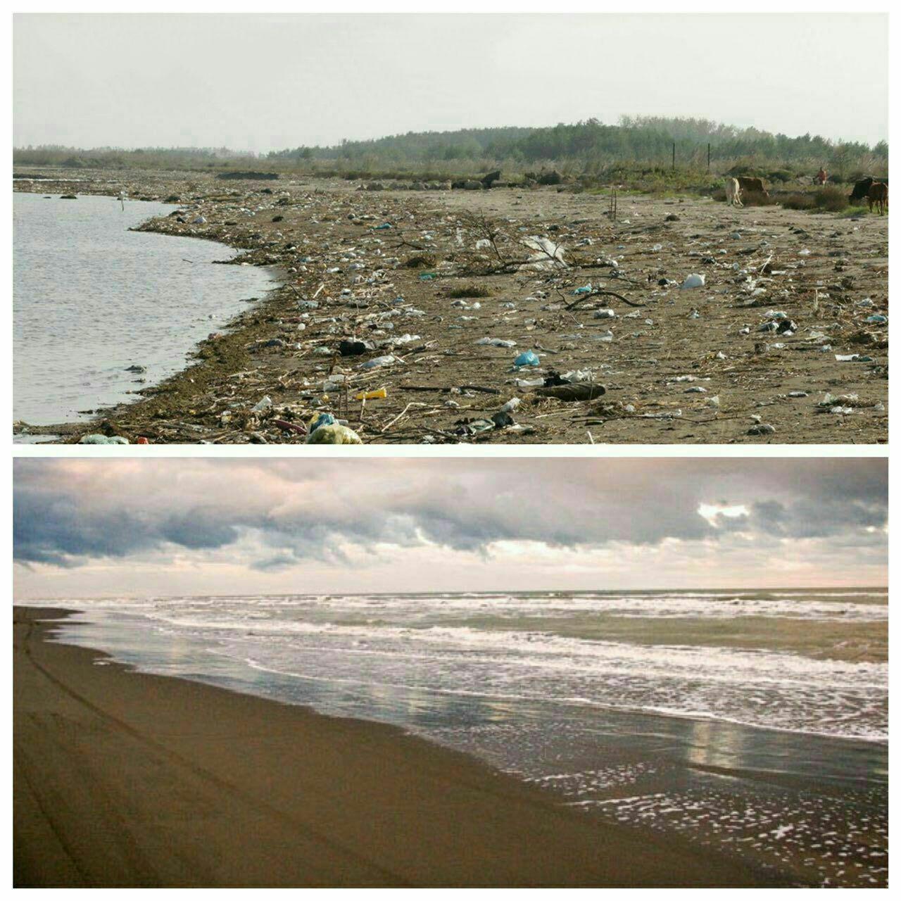 هر دو ، ساحل دریای خزر است !!!!!  اما بالایی از جانب ایران و پائینی از جانب روسیه !  این که دیگه تقصیر مسولین نیست!! reza_netboy