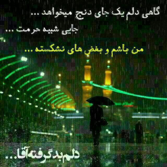 گاهی دلم یک جای دنج میخواهد..جایی شبیه حرمت .. من باشم و بغض های نشکسته خزان بوشهر
